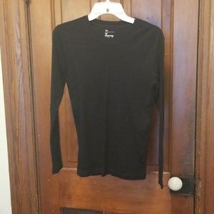 Black form fitting long sleeve